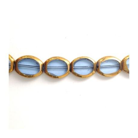 Glass Bead Oval 14x17mm (~21pcs)