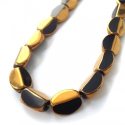 Glass Bead Oval Faceted Plated 10x13mm (~24pcs)
