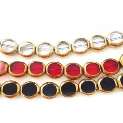 Glass Bead Round Faceted Plated 10mm (~32pcs)