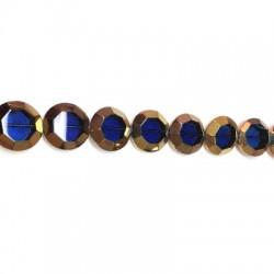 Passante di Vetro Placcato Perlina Rotonda Schiacciata 22mm (~15pz/filo)
