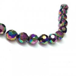 Passante di Vetro Placcato Perlina Sfaccettata 16mm (~22pz/filo)