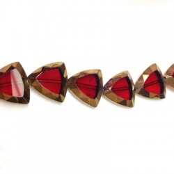 Glass Plated Bead Triangle 23mm (~15pcs)