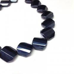 Passante di Vetro Placcato Perlina Irregolare Sfaccettata 20mm (~18pz/filo)