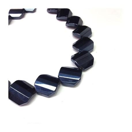 Glass Bead Irregular Plated 20mm (~18pcs)