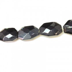 Glass Bead Faceted Irregular Plated 20x29mm