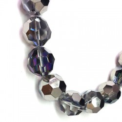 Glass Bead Faceted Round 20mm