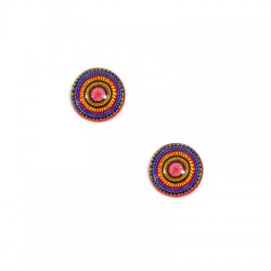 Cabochon in Vetro Rotondo Mandala 12mm