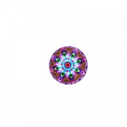 Cabochon in Vetro Rotondo Mandala 20mm