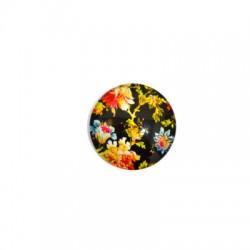 Γυάλινο Flatback Στρογγυλό Λουλούδια 25mm