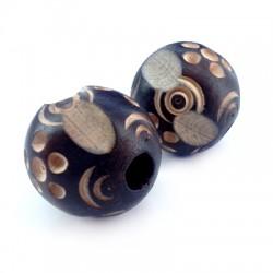 Perla di Legno Intarsiata 29mm