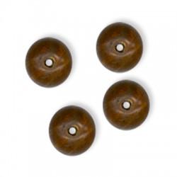 Ξύλινη Χάντρα Μπίλια Στρογγυλή 12mm