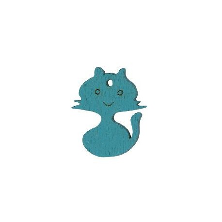 Ξύλινο Μοτίφ Γάτα 25x20mm