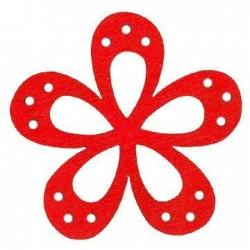 Ξύλινο Μοτίφ Λουλούδι 46mm