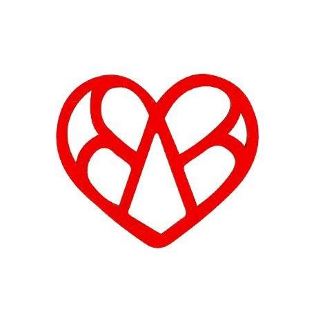 Ξύλινο Μοτίφ Καρδιά 65x56mm