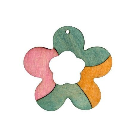 Wooden flower 50mm