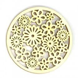 Wooden circle flower 60/2,5mm