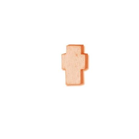 Ξύλινο Στοιχείο Σταυρός Περαστός 8x13mm