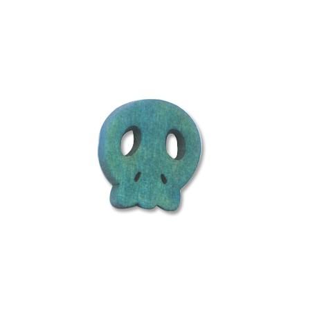 Wooden skull flat 15/4mm