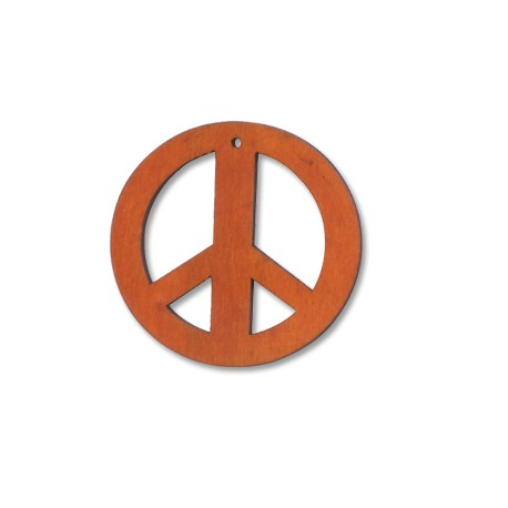 Wooden sign peace 20/2mm