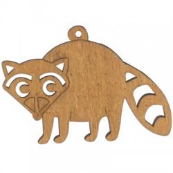 Wooden Raccoon 70x100mm