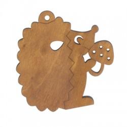 Wooden Hedgehog 80x80mm