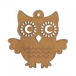 Wooden Owl 80x79mm