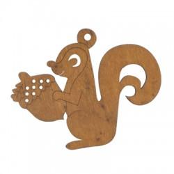Wooden Squirrel 70x88mm