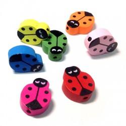 Wooden Ladybug 15x19mm