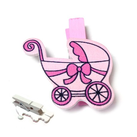 Wooden Pin Baby Trolley 35x37mm