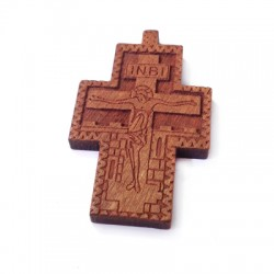 Wooden Cross Pendant 27x40mm