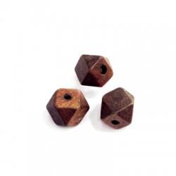 Wooden Polygon Bead 12mm