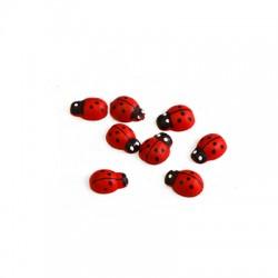 Wooden Charm Ladybug 11x8mm