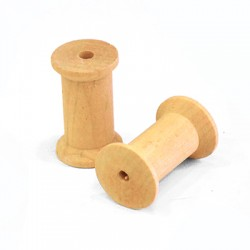 Ξύλινο Στοιχείο Καρούλι Περαστό (~49mm)