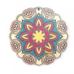 Wooden Pendant Flower 60mm