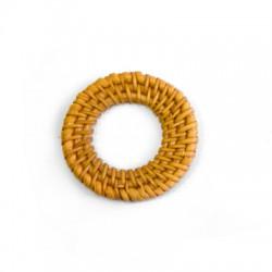 Ciondolo in Bambu' Intrecciato a Cerchio 45mm