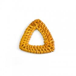 Ciondolo di Bamboo Intrecciato a Triangolo 40mm