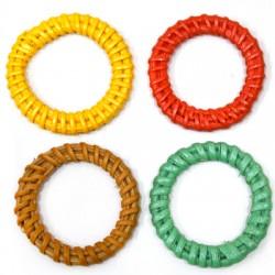 Ρατάν Μοτίφ Κύκλος Περίγραμμα (~36mm)