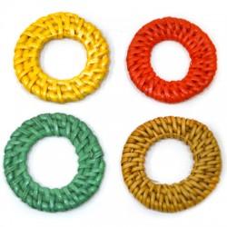 Rattan Pendant Circle Hollow (~40mm)