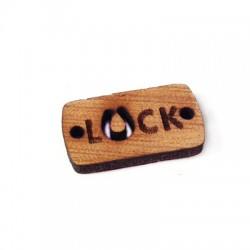 """Wooden Pendant Tag """"Luck"""" 23x12mm"""