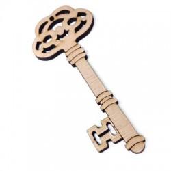 Ξύλινο Μοτίφ Κλειδί 120x50mm