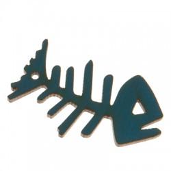 Ξύλινο Μοτίφ Ψαροκόκαλο 44x25mm (Ø2mm)