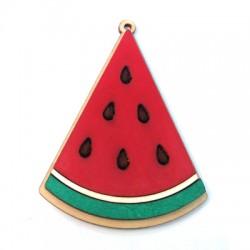 Wooden Pendant Watermelon 46x57mm