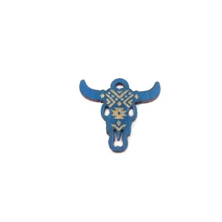 Wooden Pendant Bull's Head 25x21mm