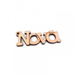 Wooden Pendant 'Νονά' 50x17mm