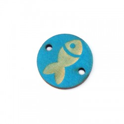 Wooden Connector Fish 18mm