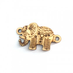 Wooden Connector Elephant 20x17mm