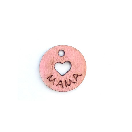 Wooden Charm 'Mama' 17mm