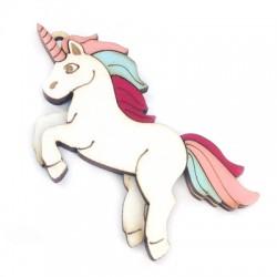 Wooden Pendant Unicorn 76x42mm