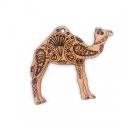 Wooden Pendant Camel 50x61mm