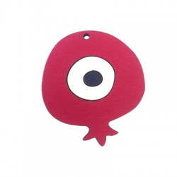 Wooden Pendant Pomegranate with Eye 59x52mm